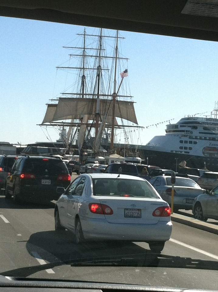Cool old time sailing ship across from this hotel. Liking San Diego so far.